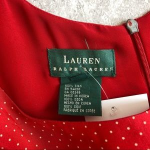 Lauren Ralph Lauren Dresses - Vintage Ralph Lauren Polka Dot Silk Dress